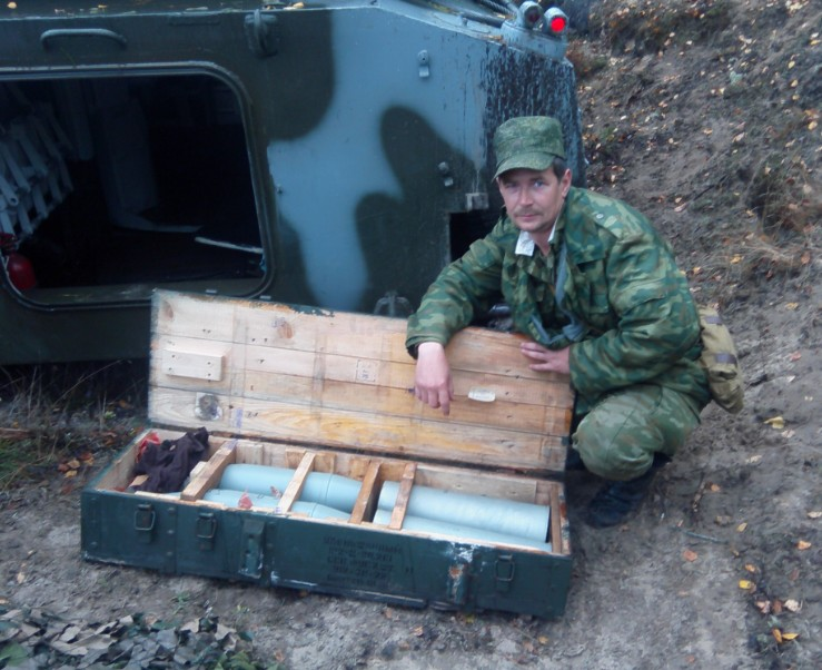 Главный заряжающий САУ доставил снаряды