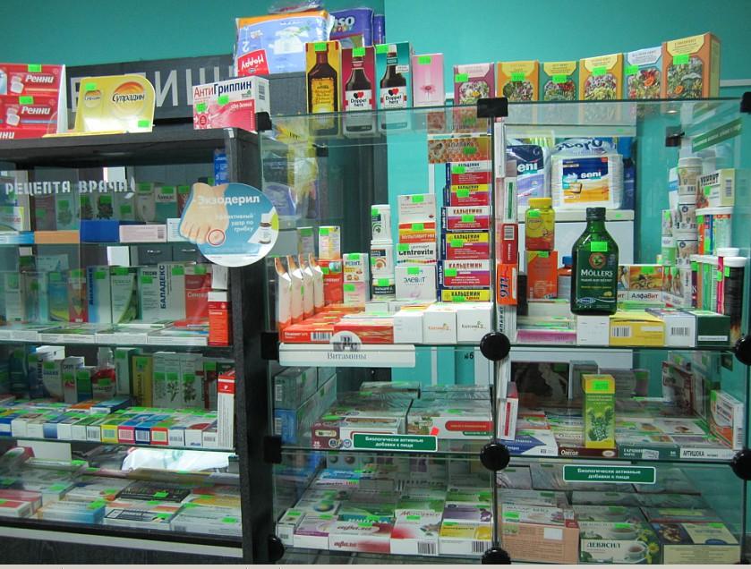 Торговый зал аптеки №166