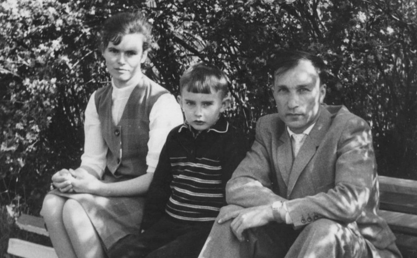 Штемплевский В.И. с женой и сыном