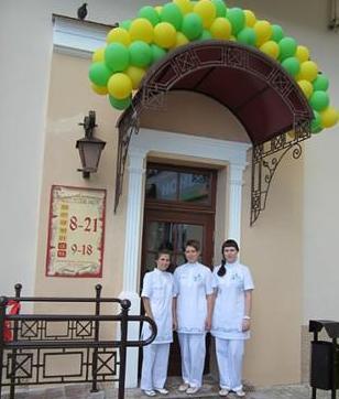 12 июня 2013 г. – открытие аптеки. Слева направо: Чернявская Тамара, Хоперская Надежда, Волчек Дарья.