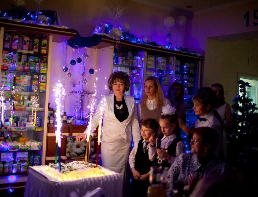 Кульминация праздника юбилейный торт