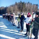 Яркий день лыжных гонок